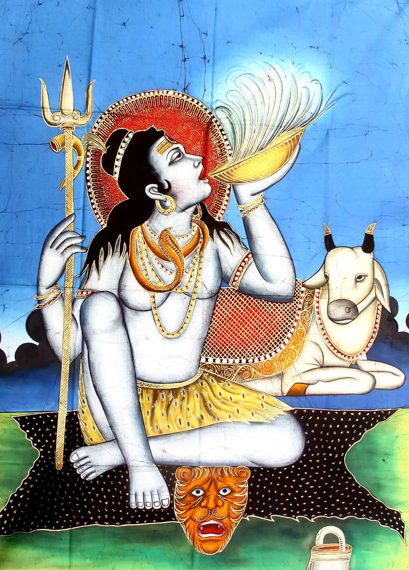 Kasa Indian Eatery - Shiva drinking Kasa bhang lassi