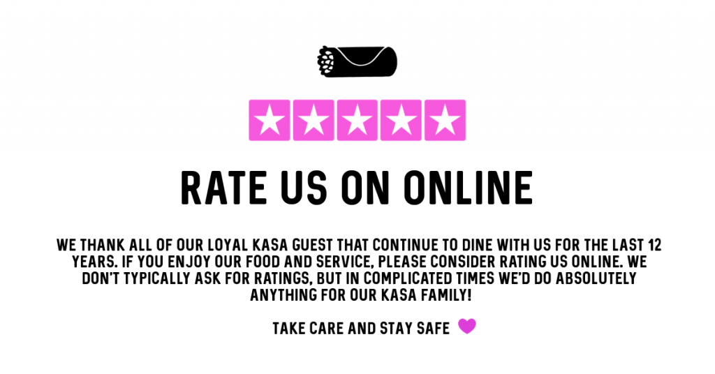 Rate us online!